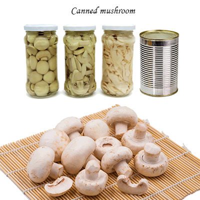 Canned mushroom glass bottle tin normal lip easy open lip